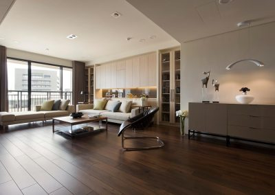 apartments-living-room-brown-interior-living-room-brown-interior-decoration-ideas-and-dark-wood-laminate-flooring-tile-plus-white-sofa-bed-with-cushion-bench-seat-and-leather-